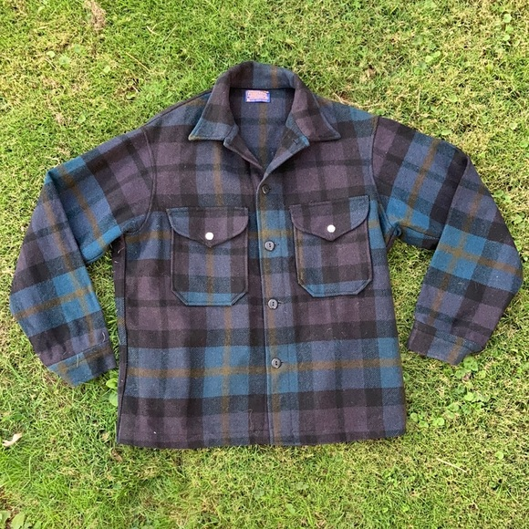 VINTAGE PENDLETON   Plaid Shirt Coat